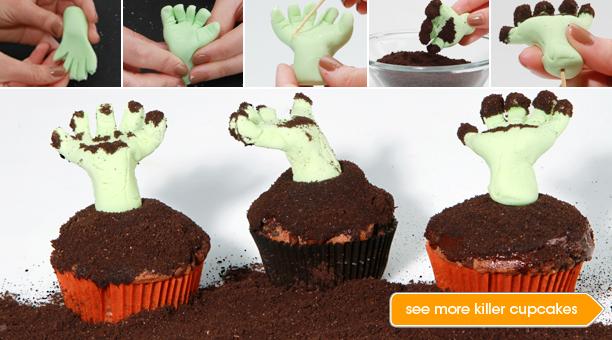 Decoração de cupcake de halloween passo a passo