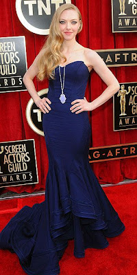 Amanda Seyfried, fashion, red carpet, SAG Awards, Zac Posen