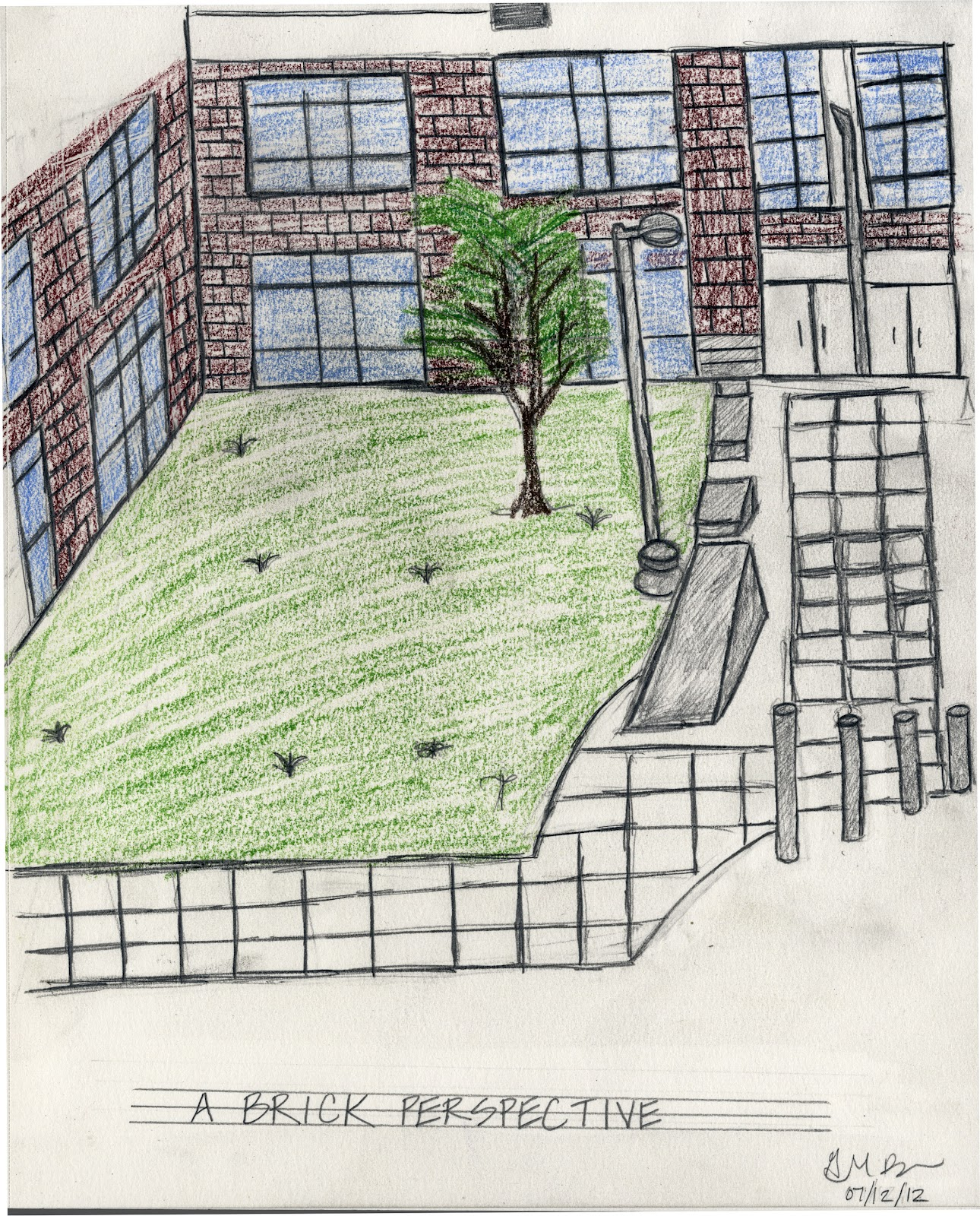 Interior design exterior one point perspective for Exterior 2 point perspective