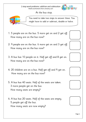 Worksheets Two Step Word Problems Worksheets free worksheets maths word problems ks1 printable year 2 scalien