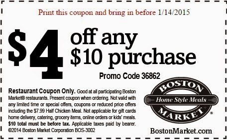 Boston market coupon code