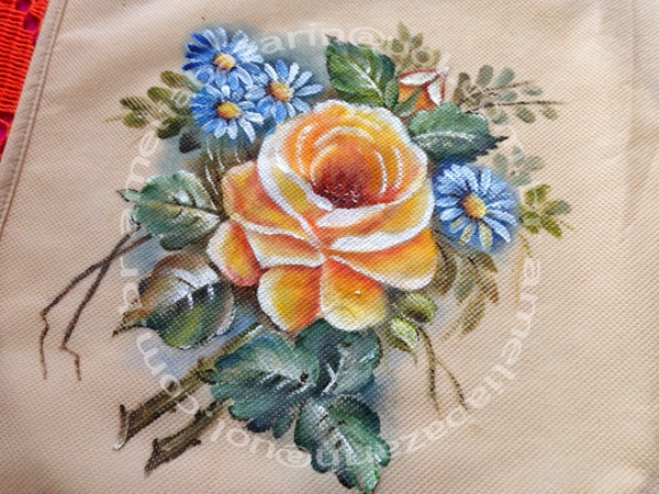 Ecobag com pintura feita a mão