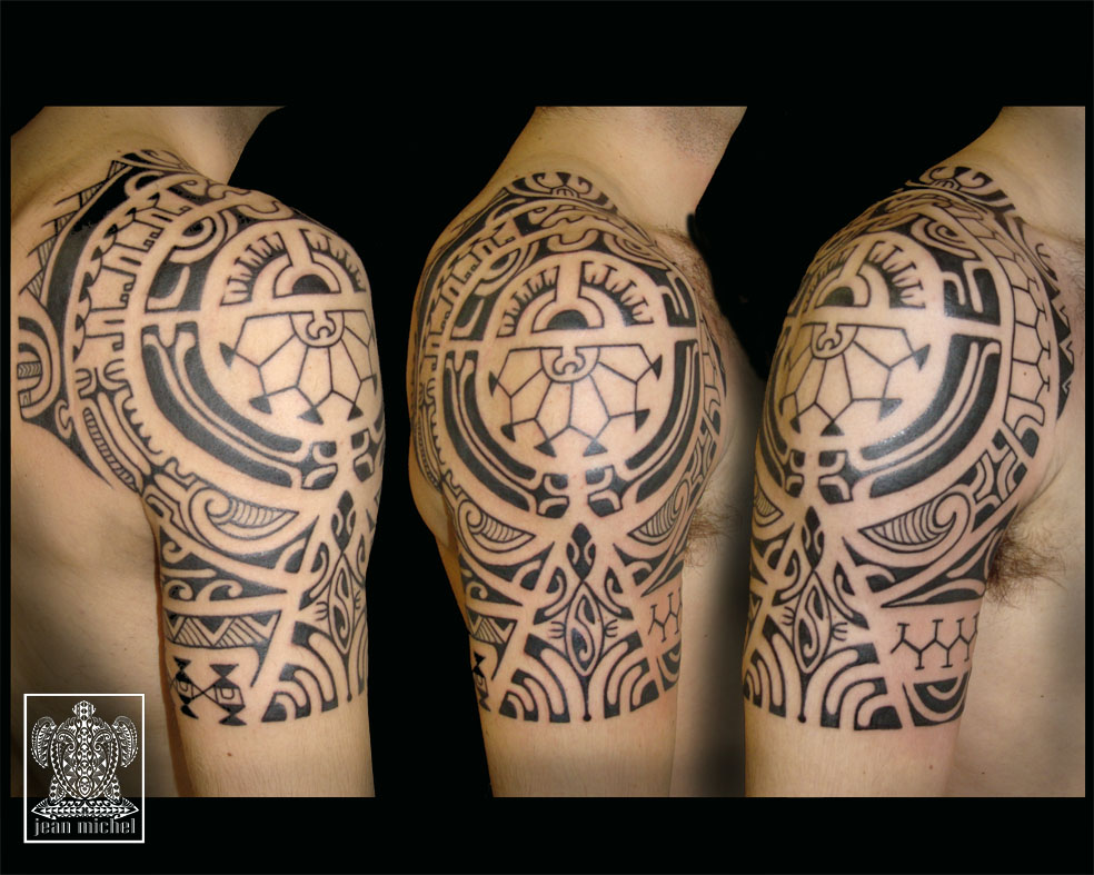 tatouage polynesien epaule. Black Bedroom Furniture Sets. Home Design Ideas