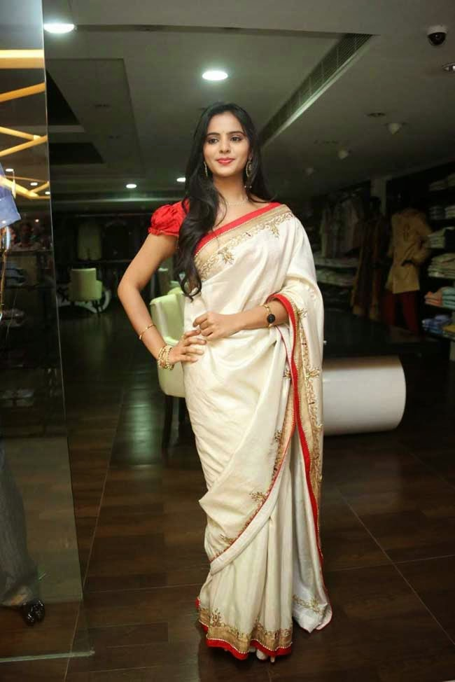 Actress Manasa In Work Saree