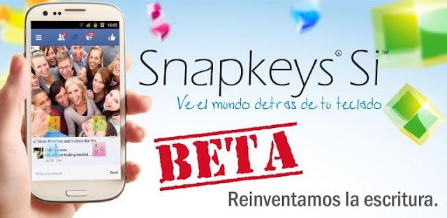 SnapKeys Si ya está disponible para operar en español