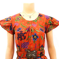 DB2928 - Mode Baju Dress Batik Modern Terbaru 2013
