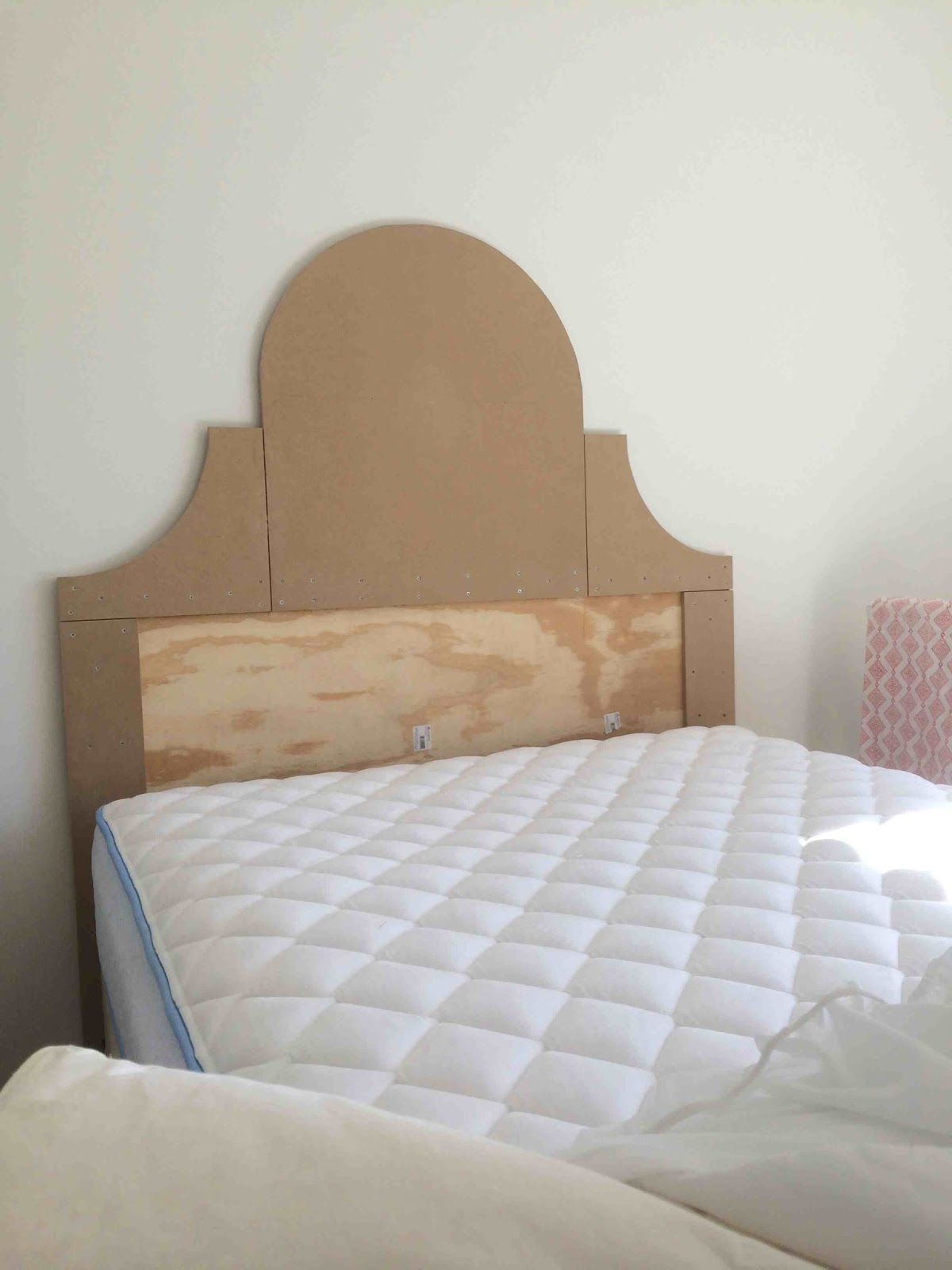 Green Street DIY Upholstered Scalloped Headboard with Nailhead
