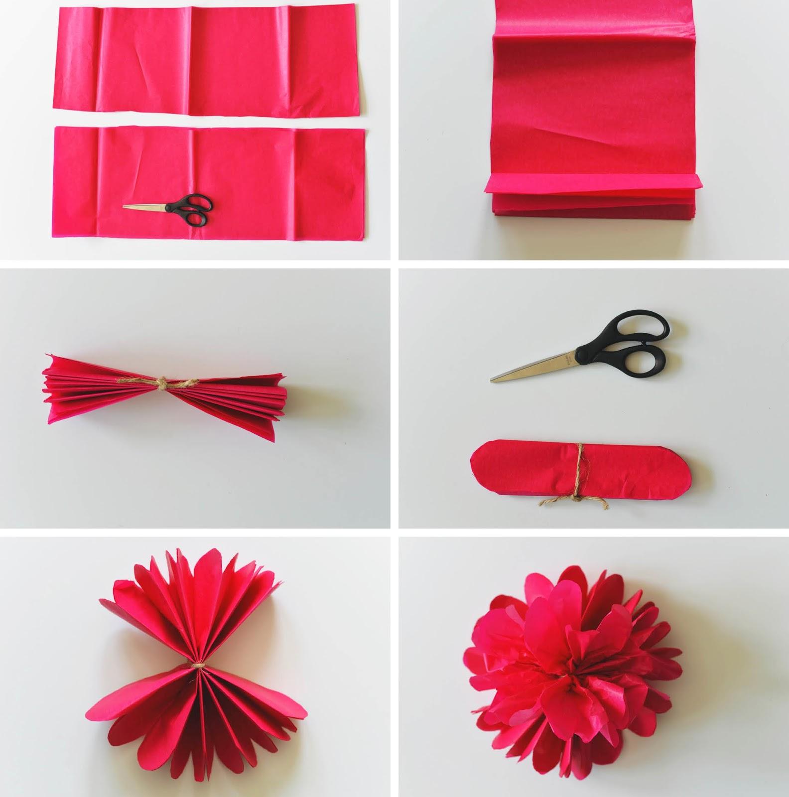 Très HOME & GARDEN: 10 DIY pour fabriquer des fleurs en papier FK91