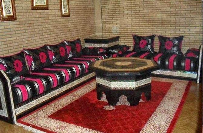 tissu pour banquette marocaine d coration salon marocain mai - Salon Marocain Moderne Bruxelles