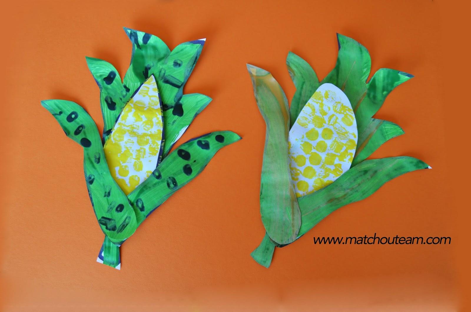 épis de maïs en peinture activités enfants