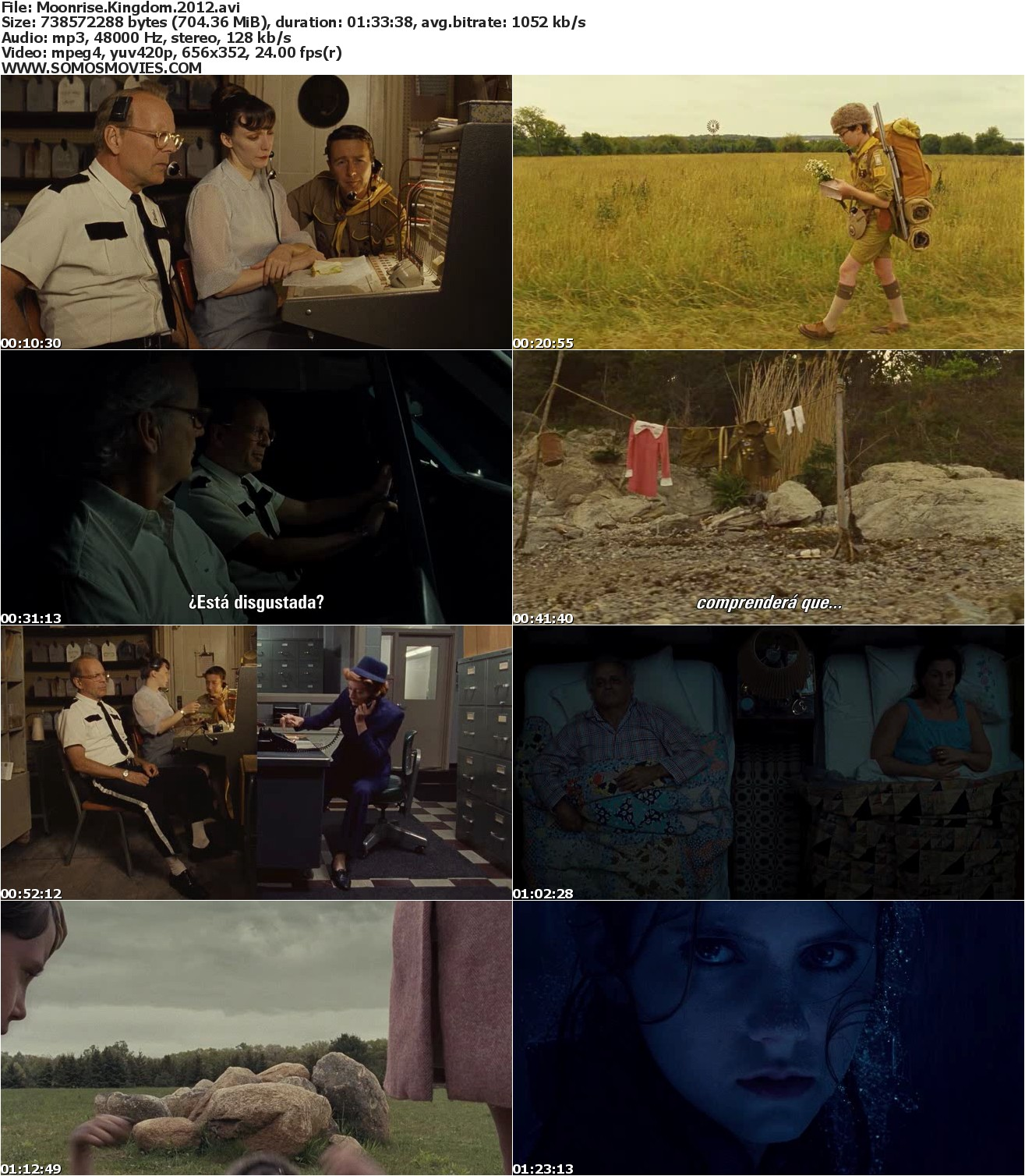 Moonrise Kingdom (2012) Subtitulada, Moonrise Kingdom (2012) Audio