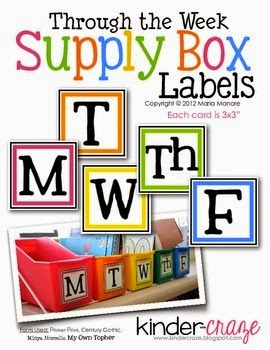http://www.teacherspayteachers.com/Product/Through-the-Week-Supply-Box-Labels-307141