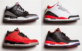 four different jordans