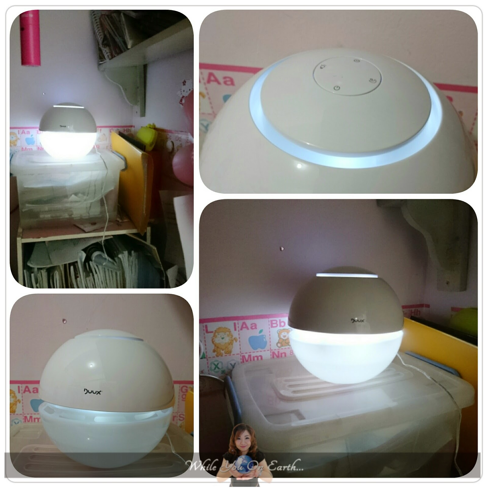 Duux Ultrasonic Air Humidifier where I put it on my girl's room #824A5C