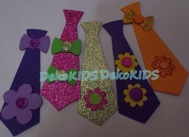 Corbatas infantiles en goma eva - Imagui