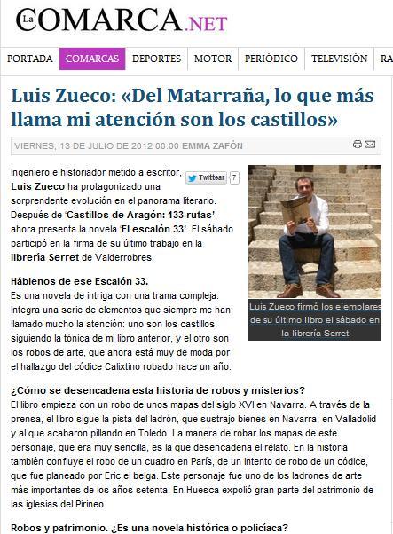 Entrevista en La Comarca