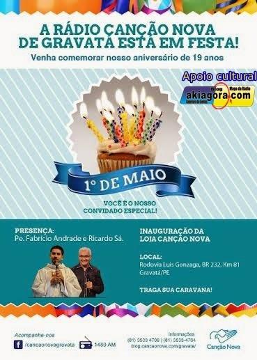 Aniversário da Rádio Canção Nova de Gravatá.