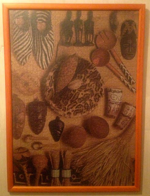 african_artifacts_1000_parça_ravensburger_puzzle_çerçeve