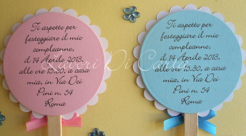 """Favorito Lavori Di Carta Blog: Inviti di Compleanno """"Lollipop"""" KR49"""