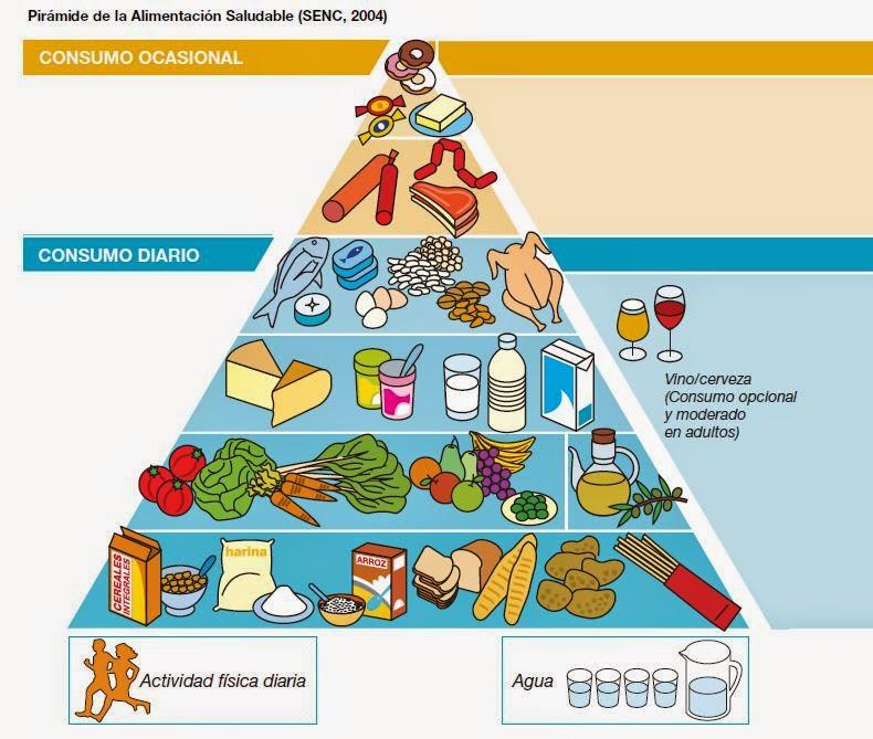 pirámide alimentaria, dieta equilibrada nutrición saludable sociedad española de nutrición clínica