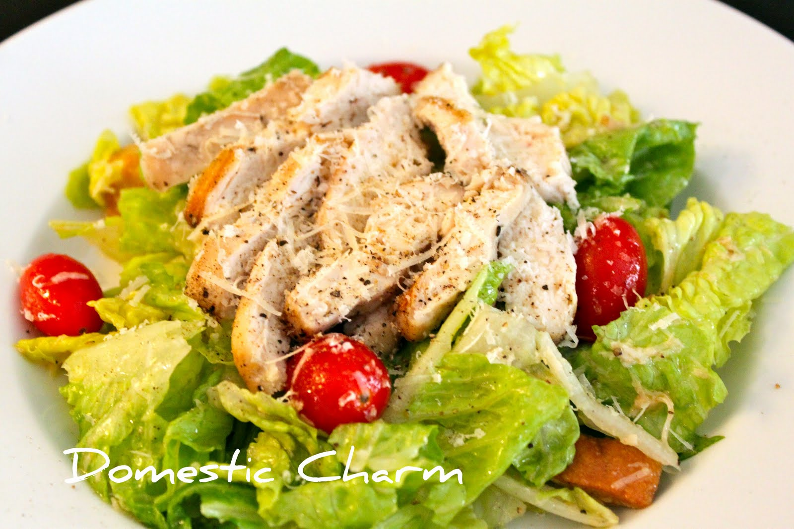 Domestic Charm: Chicken Caesar Salad