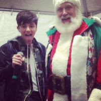 Greyson Chance with Santa Clause Christmas