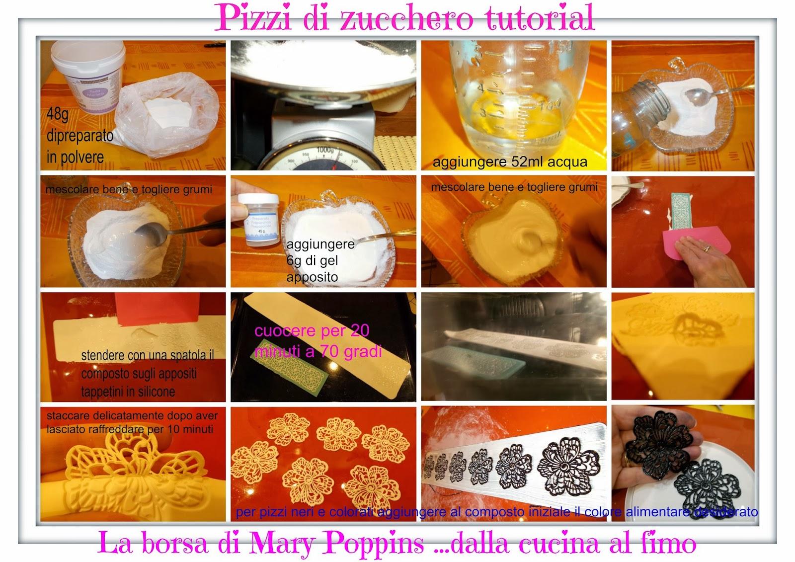 pizzi e merletti in pasta di zucchero - tutorial -
