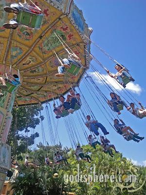 Enchanted Kingdom Colorful Swing Gondola Ride