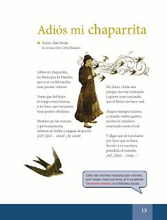 Apoyo Primaria Español Lecturas 6to Grado Adiós mi chaparrita