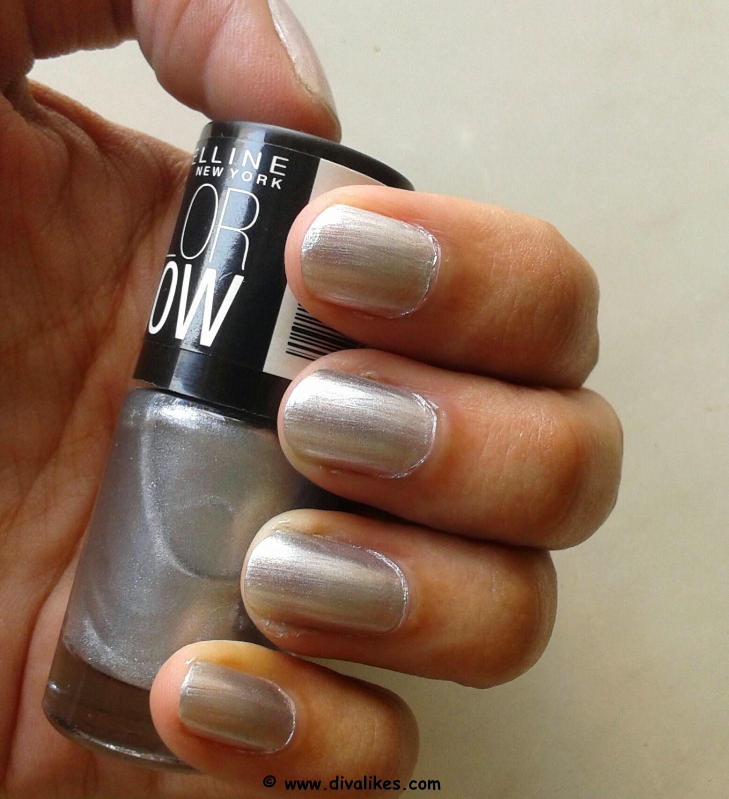 Maybelline Color Show Nail Lacquer Silver Linings 007 Review | Diva ...