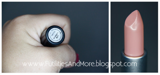 Mac, Nude, Lipstick, amplified, Blankety, partial to pink, futilitiesandmore.blogspot.com, futilities and more, futilitiesandmore