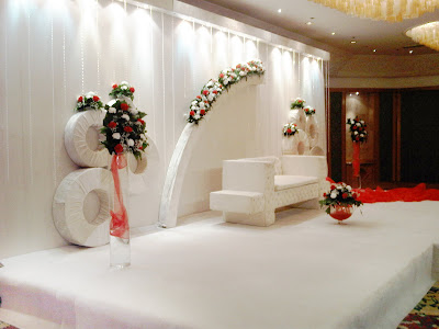 Wedding Decor at Crowne Plaza Kuwait Pearl White and Red