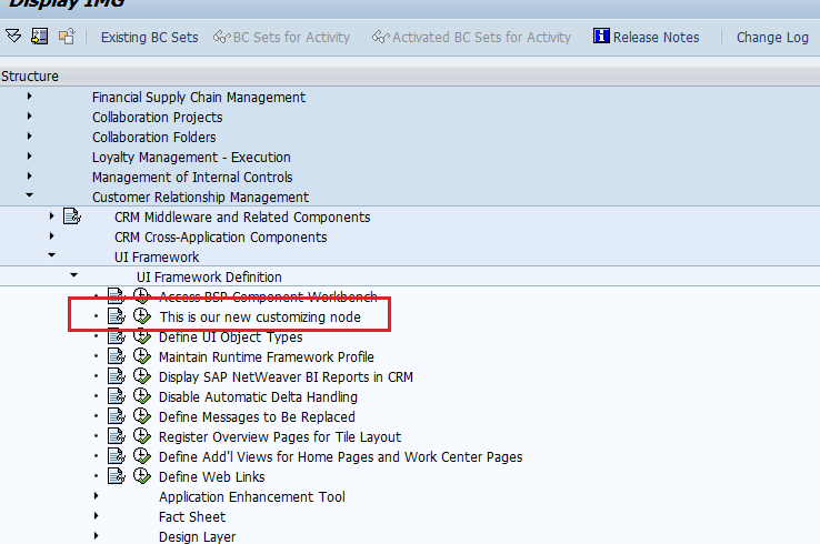 SAP Customer Engagement: How to extend the standard SAP IMG?
