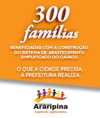 300 famílias  com abastecimento no Cavaco