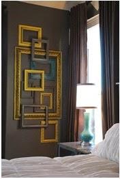 idea para decorar las paredes utilizando cuadros de madera with como decorar una pared de madera