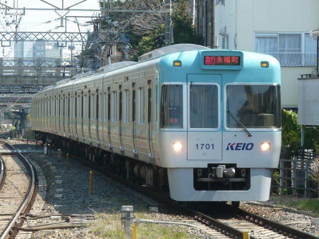 京王電鉄 急行 永福町行き 1000系1~4次車ブルーグリーン