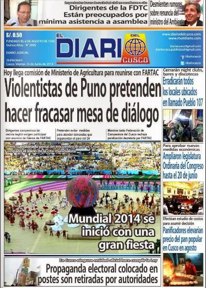 diario del cusco 13-6-2014