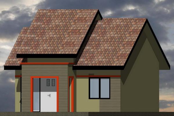 gambar 3. rumah minimalis denah rumah type 48/105