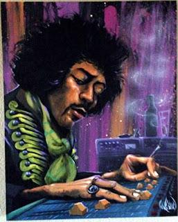 Jimi Hendrix painting by Dave Garibaldi