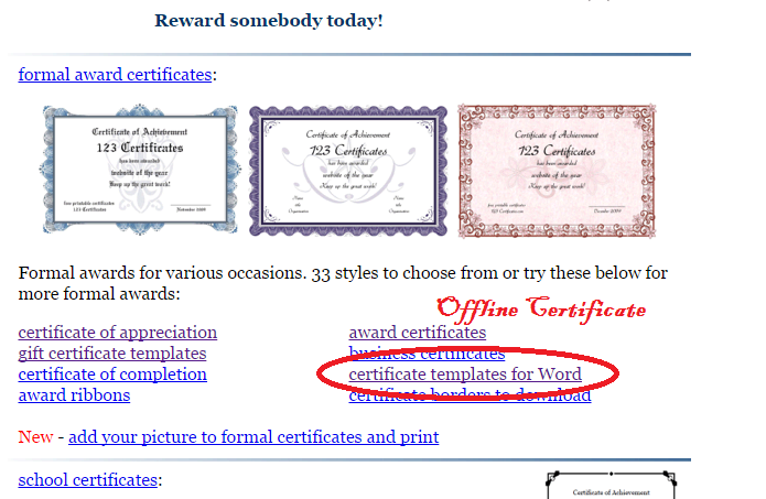 Cute Certificate English And Computer Application