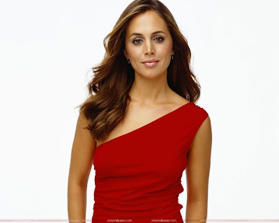 Eliza Dushku Wallpaper in Red