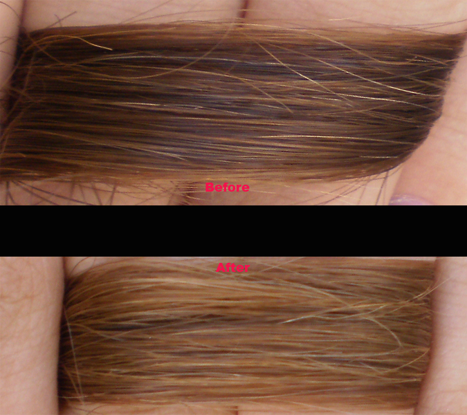 way to lighten the hair with hydrogen peroxide and lemon