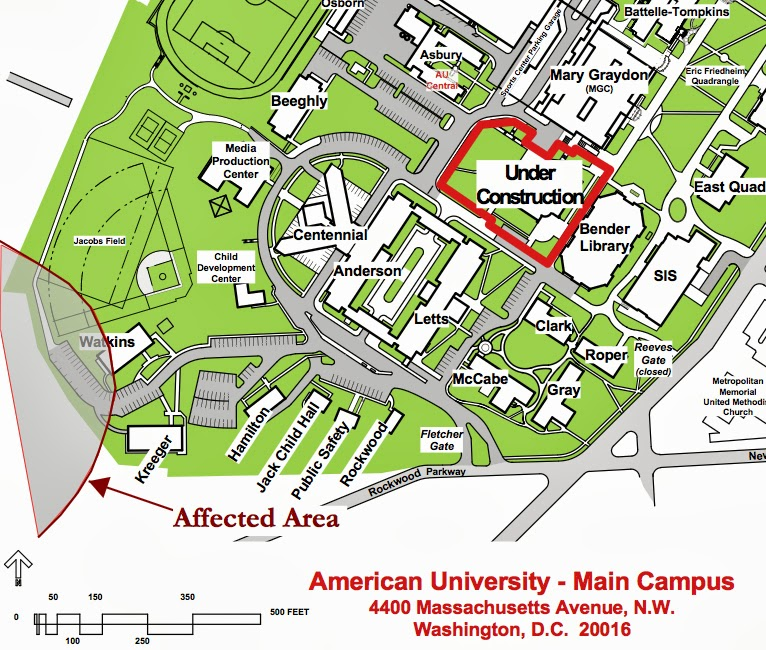 Weapons Of Mass Destruction In DC - American university map