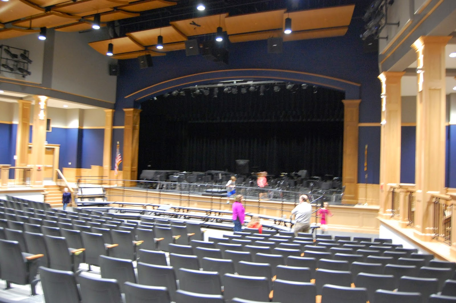 auditorium at the new FHS