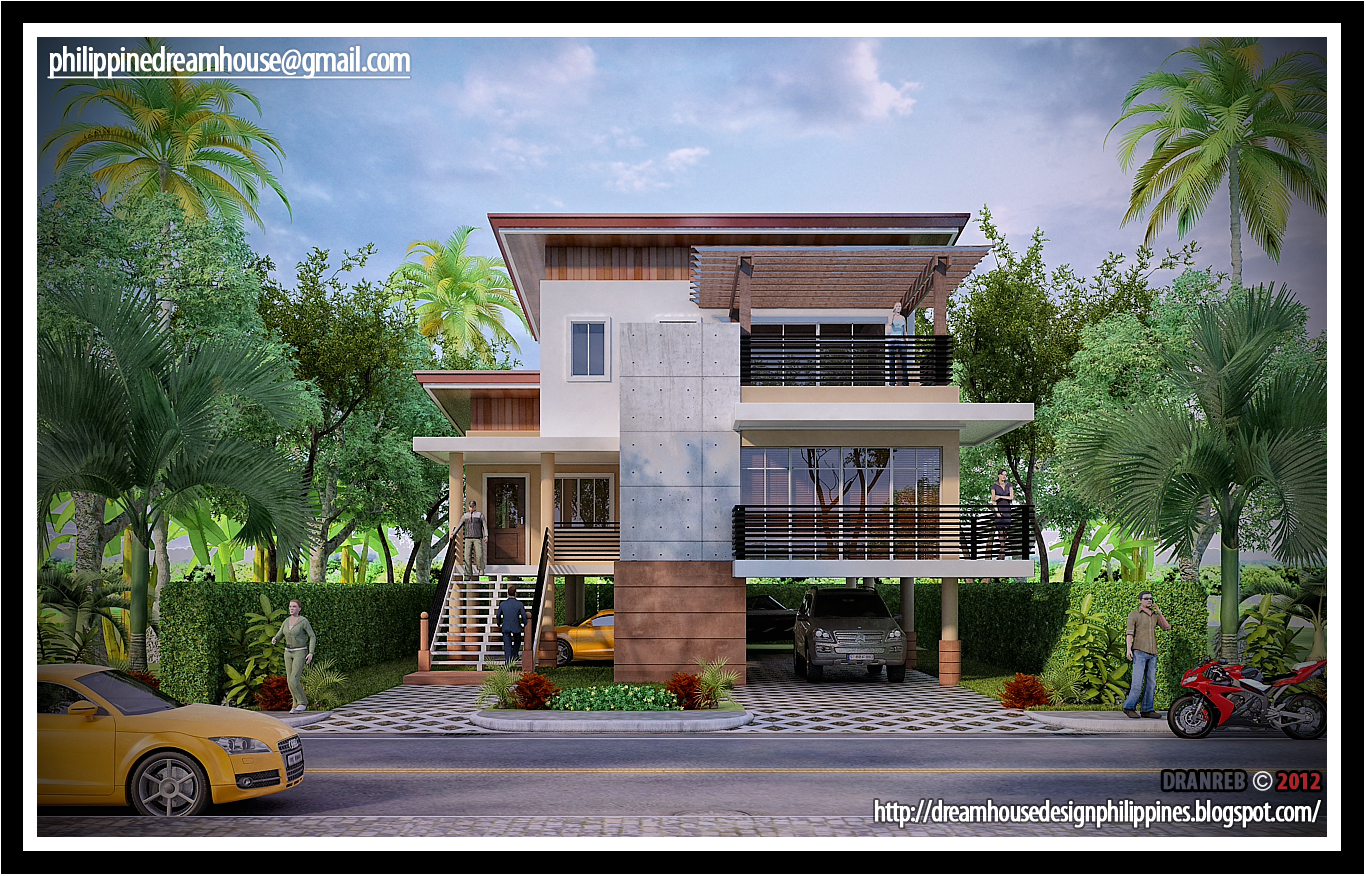 Philippine dream house design philippine flood proof for Elevated modern house design