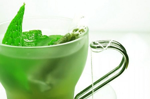 te verde negro: