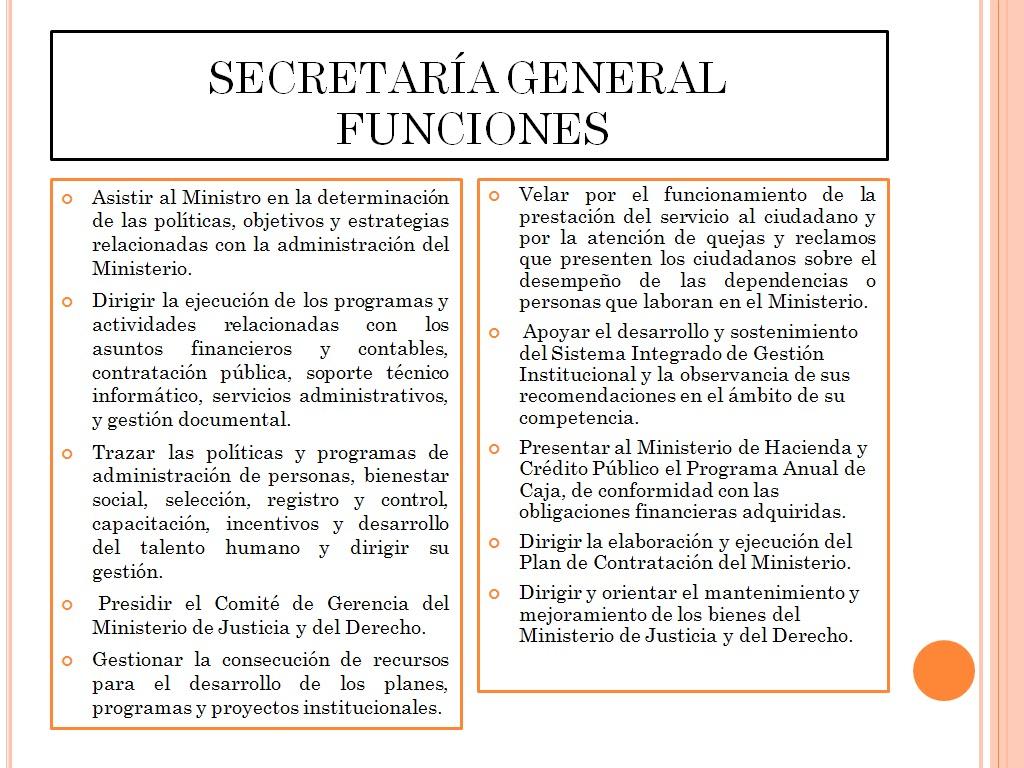 Organigrama del gobierno nacional ministro de justicia for Secretaria del ministerio del interior