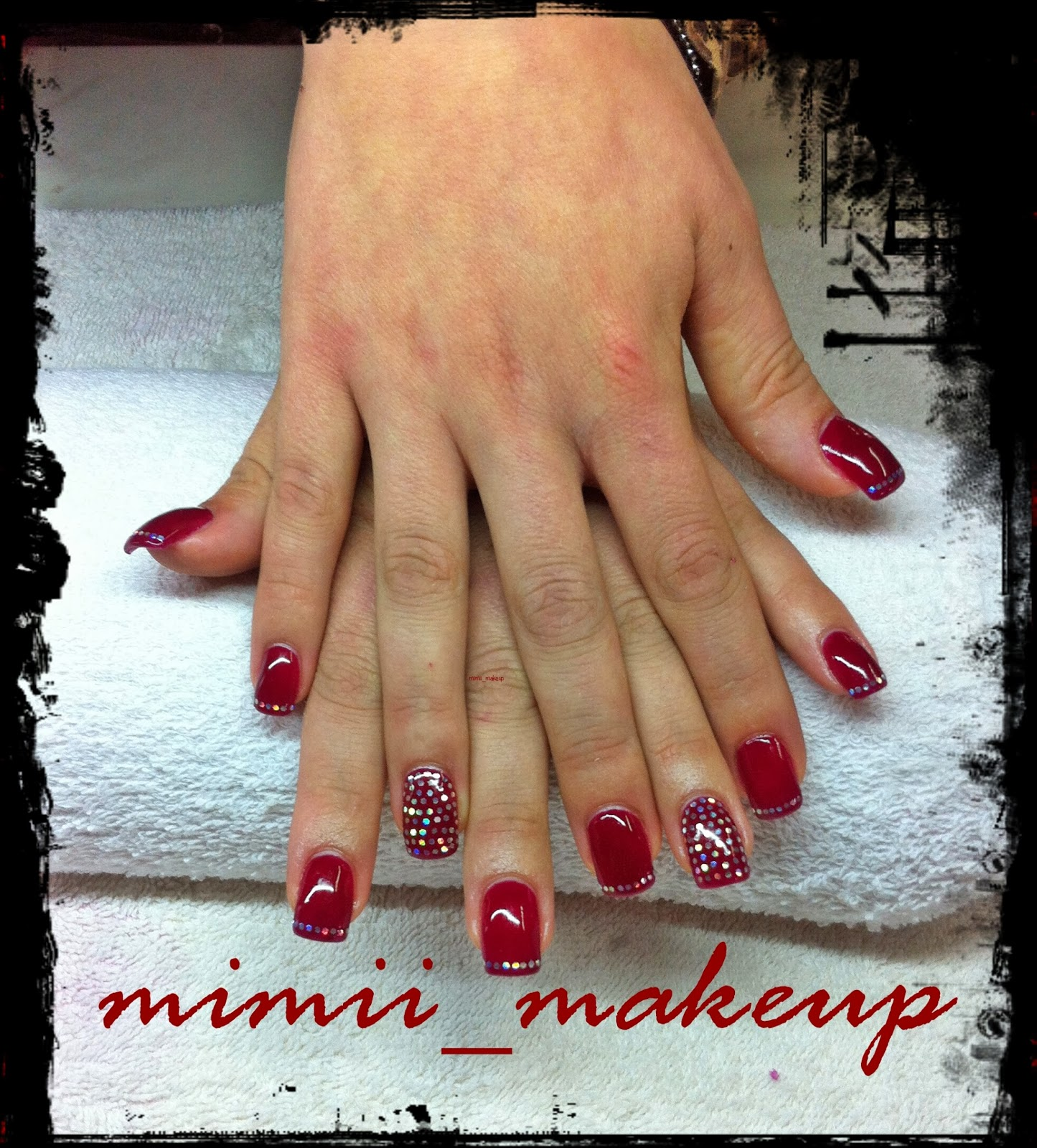 Mimi MakeUp : UÑAS EN COBERTURA GEL Y SEMI-PERMANENTE COLOR ROJO ...