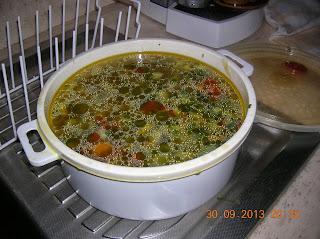 minestrone di verdura passato cotto nel microonde
