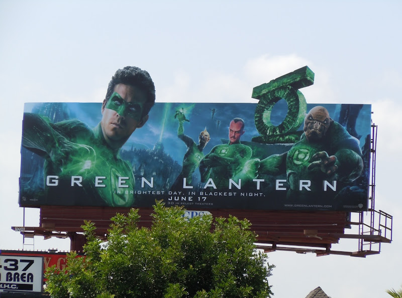 Green Lantern Corps film billboard